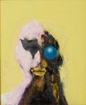 Petite tête grotesque V - huile et acryl sur toile - 50 x 41 cm - n°30/2014