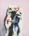 Petite tête grotesque I - huile et acryl sur toile - 50 x 41 cm - n°24/2014