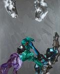 Europa, Europa n°2 - huile, acryl et cheveux sur toile - 189 x 152 cm - n°13/2011