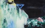 Paysage (avec yeux) n°5 - huile sous verre - 42 X 66 cm - janvier 2015 n°7/2015