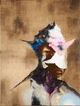 Grotesque (riant) - huile et acryl sur toile - 80 x 60 cm - n°2/2011