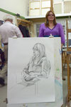 2010 Open Atelier Modeltekenen na 2 x 45 poseren.