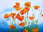2014 Klaprozen IX,     60 x 80 cm. acryl op linnen € 950,-
