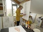 2010 Marian van Zomeren- van Heesewijk op haar atelier aan de Tintlaan 96