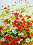 2010 Veldbloemen I acrylverf op paneel 60 x 80 cm. € 1200,-
