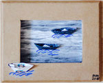 auf hoher See, 2016, Karton, Papier, Foto, Edding, Sonderanfertigung