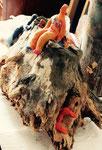 Aussöhnung mit den Wurzeln aus der Reihe Wurzeln in Marokko Wurzel Kreamiplast Acryl 2016 Sonderanfertigung