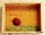 Wüstenblume 2 Acryl auf Pappe und Holz aus der Reihe Wurzeln in Marokko 2015 Preis 30,- €