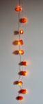 Lichterkette mit konservierten Lampionblumenfrüchten 10 LED Birnen mit Batteriebetriebenen Schalter 2017 Preis 10,- €