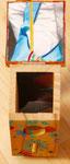 Tag der offenen Tür Acryl und Tonfigur auf Holz (Innenansicht) 2015 Sonderanfertigung