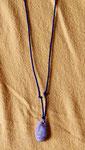 Halskette, 2017, Stein Schnur Holzkugel, Sonderanfertigung