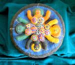 Brunnen der Erkenntnis nach Niki de St Phalle Styropor Gipsbinden 2004 Preis 90,- €