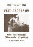 Wünschendorf Erzgebirge Festprogramm Schulfest 1977