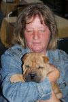 Heidi mit unserem jüngsten Besucher