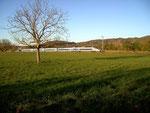 Le TGV quittant Domblans direction Sud
