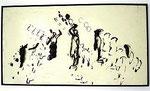 """Arman """"Investissement Émotif"""", 1963 zerschnittene Zinnfigur und Malerei auf Holz 82,5 x 153 cm"""