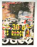 """""""Route de Vaugirard (Bas Meudon), 27 avril 1991"""", 1991 Décollage 100 x 73 cm"""