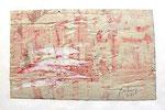 """Francois Dufrêne """"sans titre"""", 1962 Décollage, gerahmt 40 x 50 cm"""