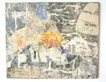 """""""Appollo"""", 1972 Papierdécollage auf Leinwand 50 x 61 cm"""