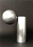 """Säule mit Ovaloid"", 1972 Edelstahl, 44,5 x 33 x 33,5 cm, WVZ 163"