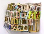 """Innere Räume, Soller"", 2000-2006 Pappe, Leinen, Kunststoff, Farbe, ca. 65x65x65cm"