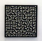 """""""Kinetisches Objekt, 324 weiße Punkte auf schwarz"""", 1962 61,7 x 61,7 cm"""