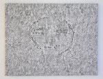 """Angesicht 9"", 2009 Jaquardgewebe (Viskose) auf Kappaplatte aufgezogen 49,3 x 63,3 x 1 cm, Unikat"