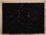 """Bibliotheca nera"" 1988 Buch, Plexiglas, Kohle 25x35cm"