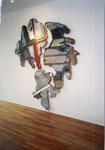 """Bundesadler II"", 1992 Wandobjekt, Holz, Zinkblech 3-t., ca. 250 x 270 x 5,5 cm), Unikat"