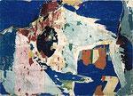 """Jacques  Villeglé """"Nation-Métro Duroc"""", 1961 Décollage 77 x 108 cm"""