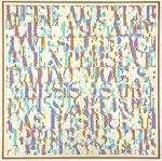 """""""Here we exemplify"""", 1977 Öl und Graphit auf Leinwand 76 x 76 cm"""