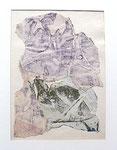 """Francois Dufrêne """"sans titre"""", 1961 Décollage, gerahmt 50 x 40 cm"""