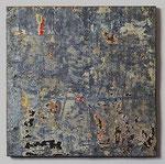 """Tôle"", 1959 abgerissene Plakatreste auf Zinkblech 50 x 50 cm"