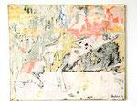 """""""A l`Asger coma à l`Asger"""", 1973 Papierdécollage auf Leinwand 54 x 65 cm"""