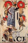 """""""Un poco surreale"""", 1963 Décollage 136 x 91 cm"""