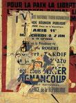 """""""Rue St. Sébastien, 16. Août 1965"""", Décollage 100 x 73 cm (Sold)"""