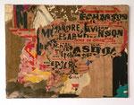 """""""Métro Chaussée d`Antin, 25 mai 1980"""", 1980 Décollage 37,8 x 50 cm (Sold)"""