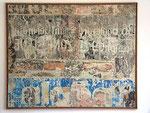 """Francois Dufrêne """"Au 136 du Boulevard St-Germain, zone bleue"""", 1966 Décollage auf Leinwand 130 x 162 cm"""