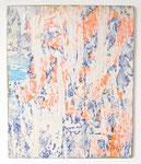 """""""La cirque"""", 1973 Papierdécollage auf Leinwand 73 x 60 cm"""