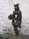 """""""Der Reise - Kaiser"""" 1998/99 Bronze 67 x 25 x 13 cm"""