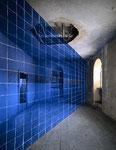 """""""Metz Bleu"""", Farbfotografie auf Aluminium"""