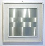 """""""o.T. (72004)"""", 1972 Metallrelief 43 x 43 cm / 60 x 60 cm gerahmt (Sold)"""