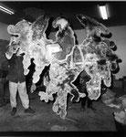"""""""Bundesadler I"""", 1992 Wandobjekt, Holz, Aluminium, Eisen ca. 250 x 270 x 5,5 cm), Unikat"""