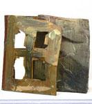 """""""Fassade und Kern"""", 1986 Kern Bienenwachs mit umgelegter Fassade aus Karton mit Photoalbum und Farbe , Ed. 12/15, 26 x 17 x 20 cm"""