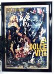"""""""La dolce vita, Frederico Fellini"""", 1962 Decollage 195 x 145 cm"""