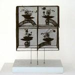 """""""Kuban"""", 1985 Messing getönt 24 x 24 x 17 cm (sold)"""