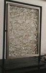 """""""o.T."""" 1968 Glasbruch in drehbarer Glasvitrine 42,5 x 29 x 12,5 cm - sold"""