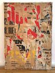 """Jacques Villeglé """"Quai Bourbon, 15 septembre"""", 1965 Décollage 69 x 48 cm"""