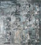 Marylin, 2010, Acryl a. Lwd., 200 x 180m (0089-10)