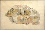 """Francois Dufrêne """"La Bête"""", 1960 Décollage, gerahmt 65 x 102 cm"""